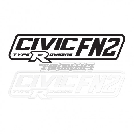 CIVIC FN2 TYPE R OWNERS OFFICIAL STICKER DECAL 6INCH PAIR