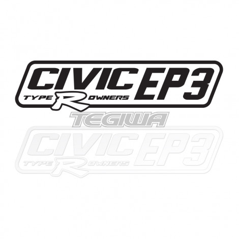 CIVIC EP3 TYPE R OWNERS OFFICIAL STICKER DECAL 6INCH WHITE