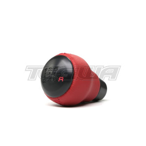 GENUINE HONDA USDM BLACK ALUMINIUM AND RED LEATHER KNOB CIVIC TYPE R FK8 17+
