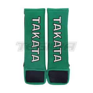 "TAKATA 3"" HARNESS SHOULDER PADS GREEN"