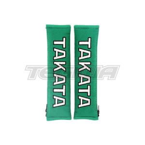 "TAKATA 2"" HARNESS SHOULDER PADS GREEN"