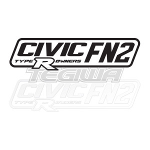 CIVIC FN2 TYPE R OWNERS OFFICIAL STICKER DECAL 6INCH WHITE