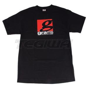 GRAMS PERFORMANCE & DESIGN LOGO TEE BLACK - L