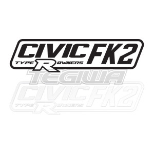 CIVIC FK2 TYPE R OWNERS OFFICIAL STICKER DECAL 6INCH PAIR
