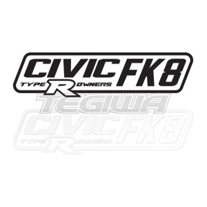 CIVIC FK8 TYPE R OWNERS OFFICIAL STICKER DECAL 6INCH BLACK