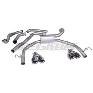 COBRA CAT BACK EXHAUST SYSTEM NON-RESONATED HONDA CIVIC TYPE R FK2 15+