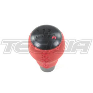 GENUINE HONDA JDM ALUMITE RED LEATHER KNOB CIVIC TYPE R FK8 17+