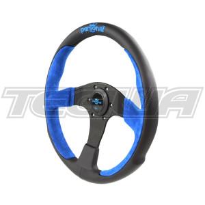 PERSONAL POLE POSITION SUEDE LEATHER STEERING WHEEL 330MM