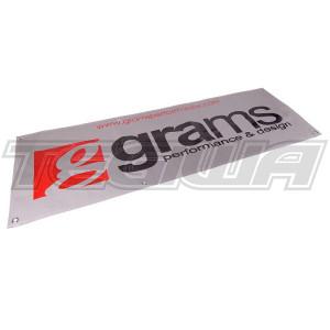 GRAMS 6 FT VINYL SHOP BANNER - SILVER