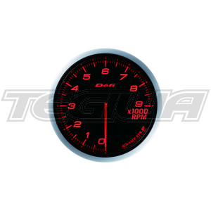 DEFI 80MM ADVANCE BF TACHO/RPM GAUGES RED