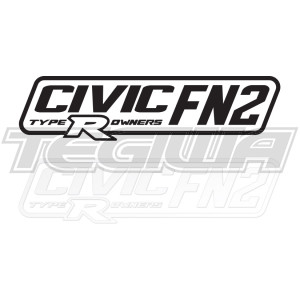 CIVIC FN2 TYPE R OWNERS OFFICIAL STICKER DECAL 6INCH BLACK