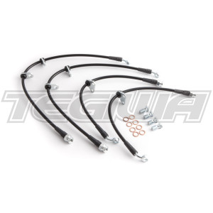 BALLADE SPORTS STAINLESS STEEL BRAIDED BRAKE LINE KIT HONDA S2000 AP2 04-09