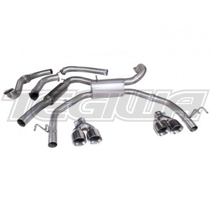 COBRA CAT BACK EXHAUST SYSTEM RESONATED HONDA CIVIC TYPE R FK2 15+