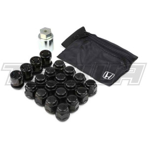 GENUINE HONDA BLACK OEM CR WHEEL NUTS 20 INC LOCKERS