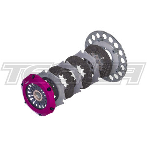 EXEDY RACING CARBON-R TWIN CLUTCH & FLYWHEEL KIT MITSUBISHI LANCER EVOLUTION IV-IX 4G63T