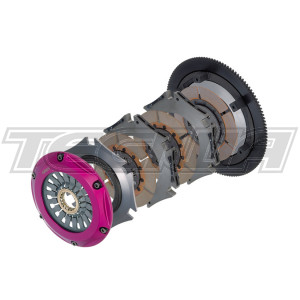 EXEDY RACING HYPER MULTI TWIN HEAVY DUTY UNSPRUNG CLUTCH & FLYWHEEL KIT MITSUBISHI LANCER EVOLUTION IV-IX 4G63T
