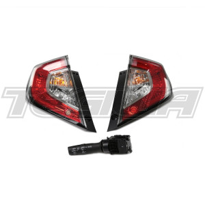 GENUINE HONDA EDM REAR FOG TAIL LIGHT PAIR CIVIC TYPE R FK8 17+