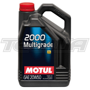 MOTUL 2000 MULTIGRADE 20W50 MINERAL ENGINE OIL