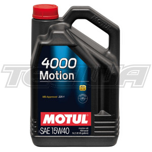 MOTUL 4000 MOTION 15W40 MINERAL ENGINE OIL