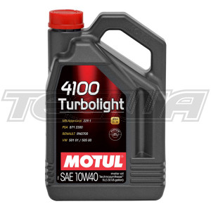 MOTUL 4100 TURBOLIGHT 10W40 TECHNOSYNTHESE ENGINE OIL
