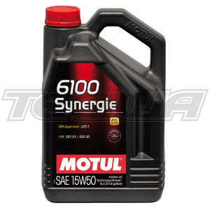 MOTUL 6100 SYNERGIE 15W50 TECHNOSYNTHESE ENGINE OIL