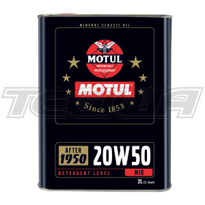 MOTUL 20W50 MINERAL CLASSIC ENGINE OIL 2 LITRES