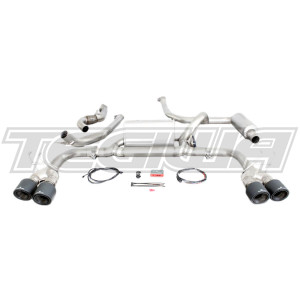 REMUS VALVETRONIC CAT BACK EXHAUST SYSTEM CARBON WITH TITANIUM TIPS HONDA CIVIC TYPE R FK2 15+
