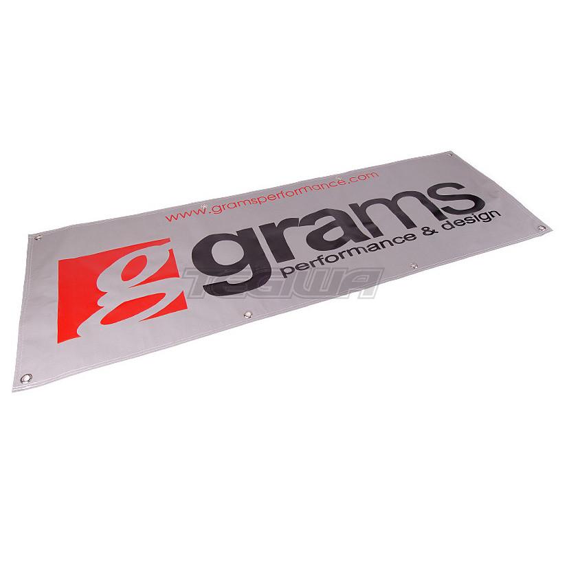 GRAMS 6 FT VINYL SHOP BANNER - SILVER   Tegiwa Imports
