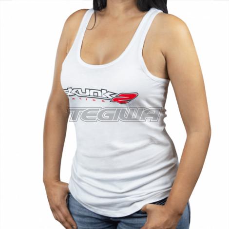 Skunk2 Go Faster Ladies Tank Top White