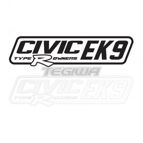 CIVIC EK9 TYPE R OWNERS OFFICIAL STICKER DECAL 6INCH BLACK