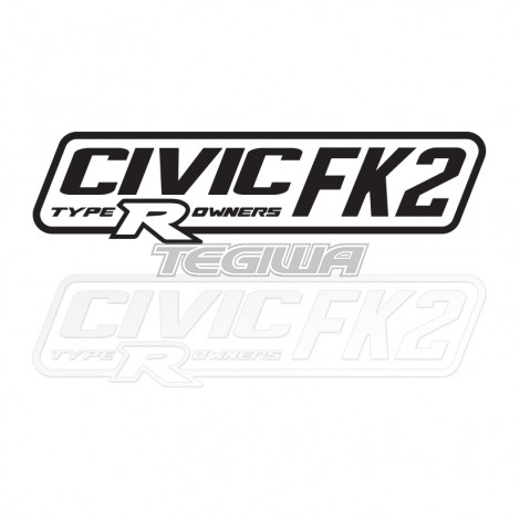 CIVIC FK2 TYPE R OWNERS OFFICIAL STICKER DECAL 6INCH BLACK