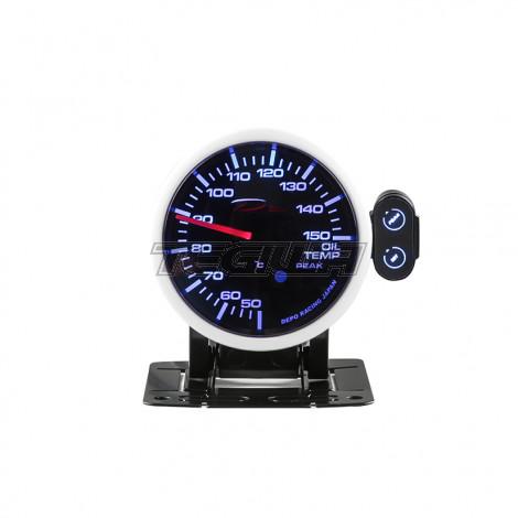 DEPO RACING OIL TEMPERATURE BAR STEPPER MOTOR GAUGE PEAK 52MM