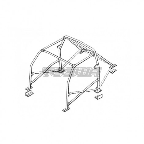 SAFETY DEVICES MULTIPOINT BOLT-IN ROLL CAGE H020 HONDA INTEGRA DC2 93-01 MSA/FIA APPROVED