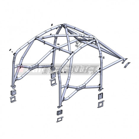 SAFETY DEVICES WELD IN ROLL CAGE H037 HONDA CIVIC TYPE R FN2 06-11 MSA/FIA APPROVED