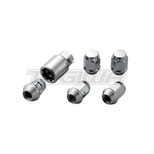 MUGEN WHEEL NUTS AND LOCKING SET M12X1.5 MOST HONDA MODELS SILVER (AFTERMARKET WHEELS)