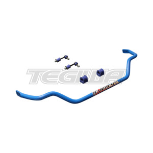HARDRACE ADJUSTABLE 28MM FRONT ROLL BAR WITH TPV DROP LINKS  BUSHES 5PC SET NISSAN 200SX S13