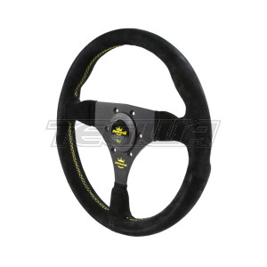 PERSONAL FITTI RACING SUEDE LEATHER STEERING WHEEL 320MM