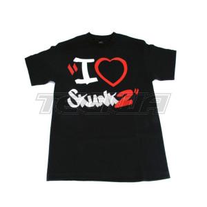 SKUNK2 I HEART SKUNK2 T SHIRT BLACK
