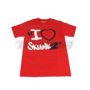 SKUNK2 I HEART SKUNK2 T-SHIRT RED
