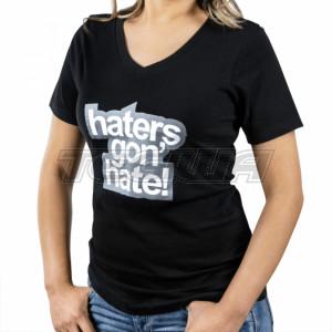Skunk2 Haters Gon' Hate Ladies V-Neck T-Shirt Black