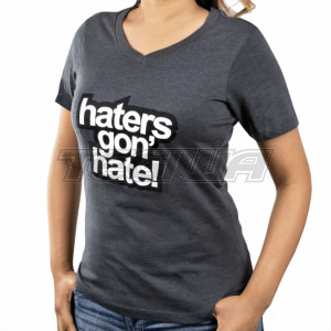 Skunk2 Haters Gon' Hate Ladies V-Neck T-Shirt Grey