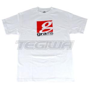 GRAMS PERFORMANCE & DESIGN LOGO TEE WHITE - L