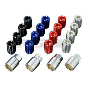 J's Racing Aluminium Locking Wheel Nut Set M12 x 1.5