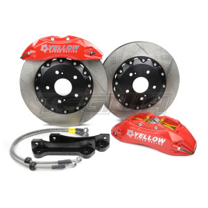 YELLOW SPEED RACING YSR 330MM SLOTTED DISC 6 POT FRONT BIG BRAKE KIT BBK YSCPF6b HONDA CIVIC TYPE R EP3