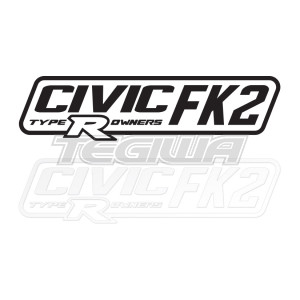 CIVIC FK2 TYPE R OWNERS OFFICIAL STICKER DECAL 6INCH WHITE