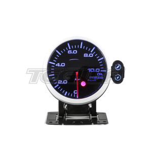 DEPO RACING OIL PRESSURE BAR STEPPER MOTOR GAUGE PEAK 60MM