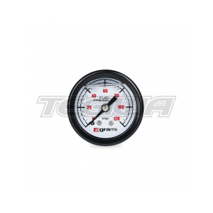 GRAMS 0-120PSI FUEL PRESSURE GAUGE - WHITE FACE