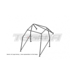 SAFETY DEVICES 6 POINT BOLT-IN ROLL CAGE H012 HONDA CIVIC EG6 92-95 MSA/FIA APPROVED