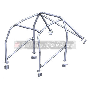 SAFETY DEVICES 6 POINT BOLT-IN ROLL CAGE H031 HONDA CIVIC TYPE R EP3 01-05