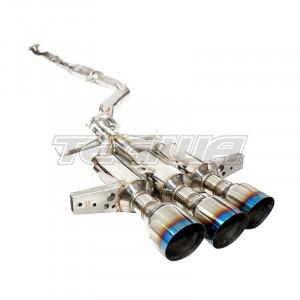 INVIDIA R400 GEMINI TRIPLE BURNT TIPS CATBACK EXHAUST HONDA CIVIC TYPE R FK8 17+